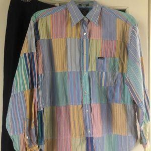 Preppy Patchwork Faconnable Woman's Shirt